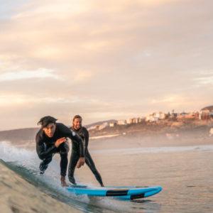 sunset surf banana blue mind morocco