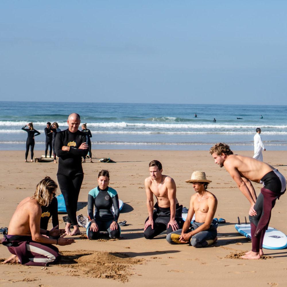 Surf coaching Banana Surf Moroco