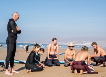 Surf Coaching Yoga Blue Mind Morocco